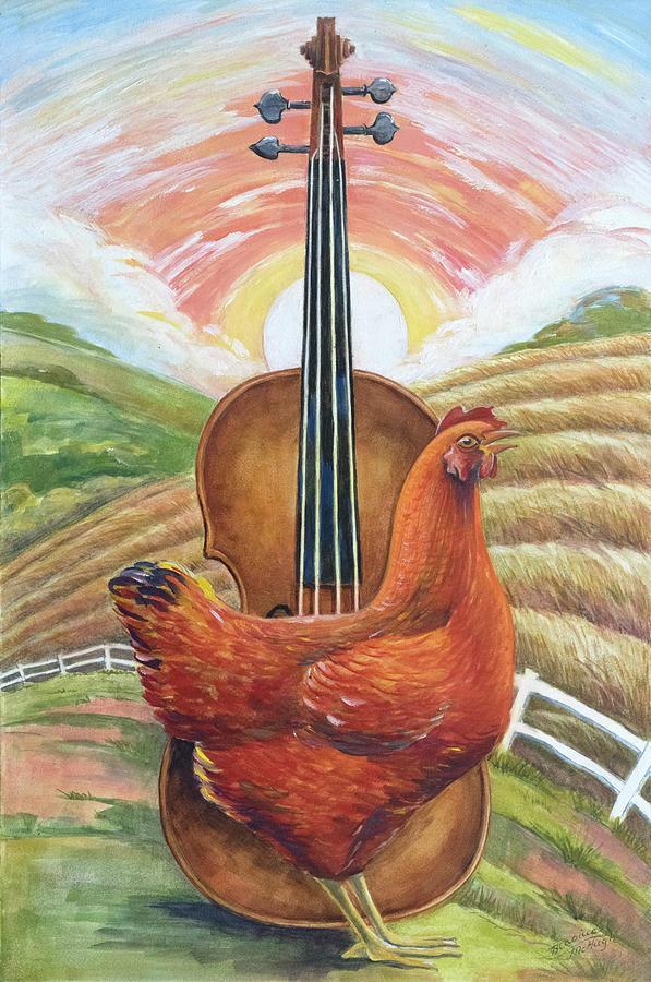 Hen Painting - Cacklin Hen by Paula Blasius McHugh