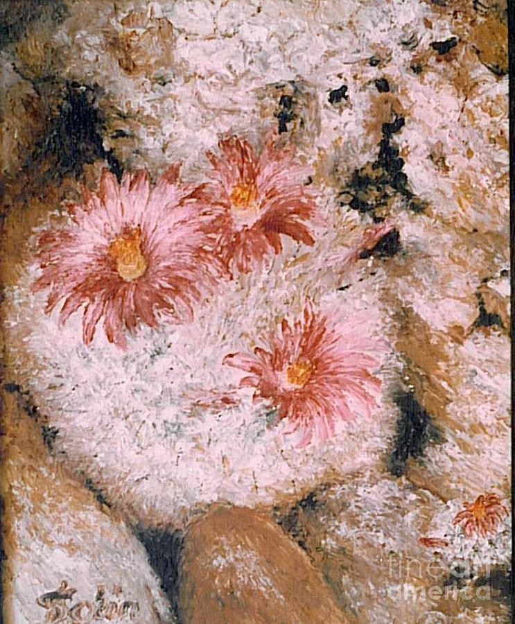 Cactus Flowers Painting