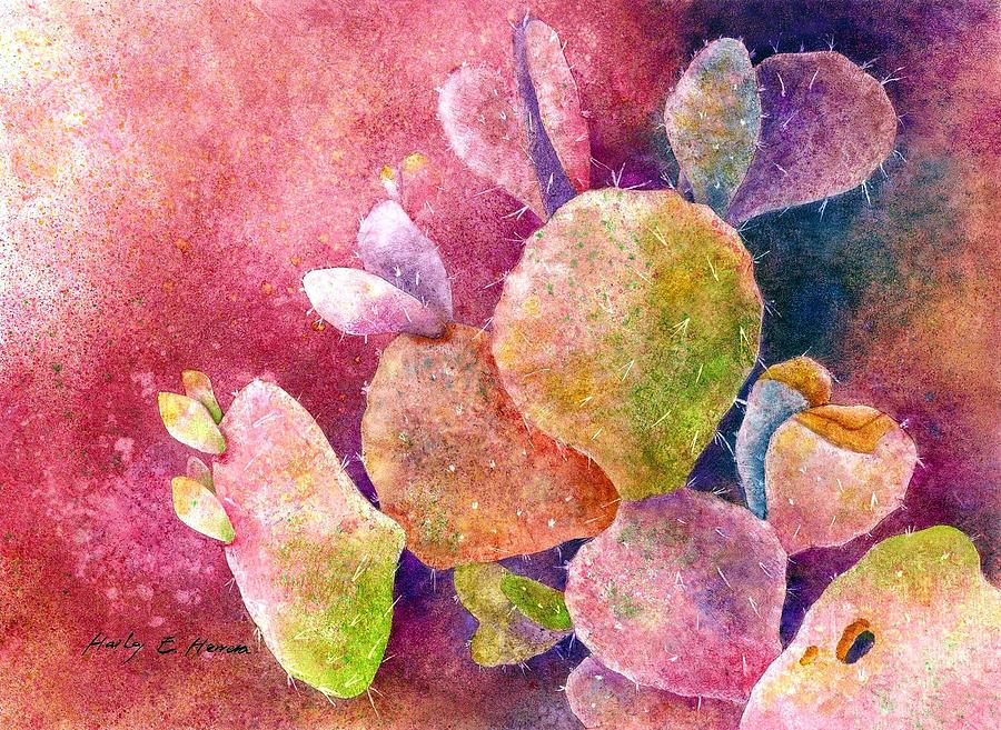 Hearts Painting - Cactus Heart by Hailey E Herrera