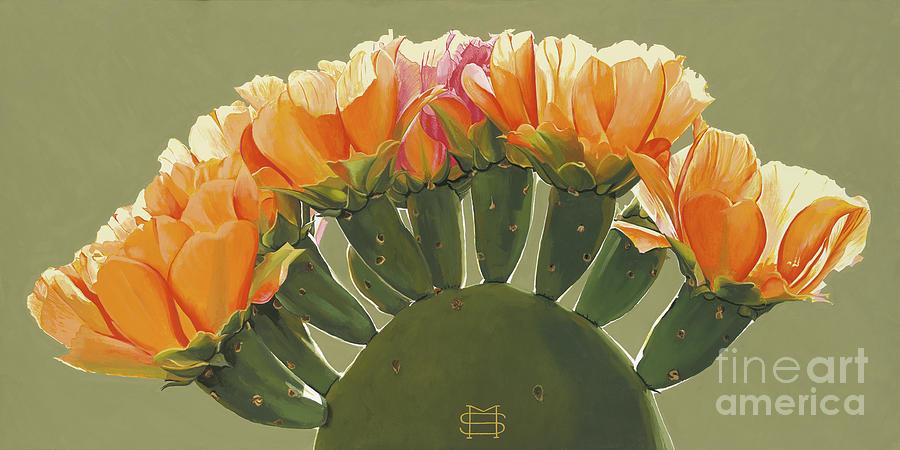 Cactus in Bloom by Michael Stoyanov
