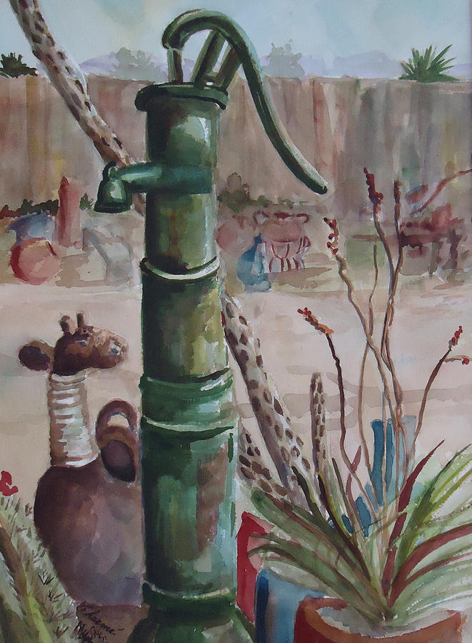 Landscape Painting - Cactus Joes Pump by Charme Curtin