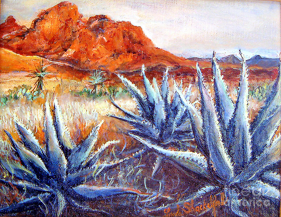 Desert Painting - Cactus View by Linda Shackelford
