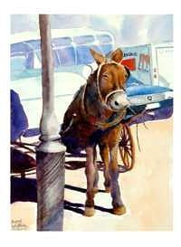 Mule Painting - Cadallic Coup De Mule by Bobby Walters