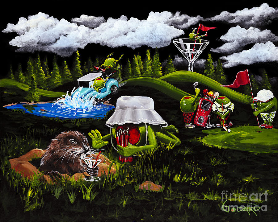 Caddy Shack Painting By Michael Godard