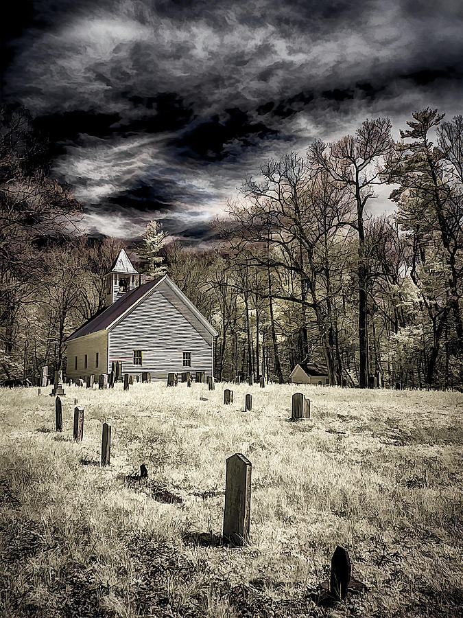 Cades Cove Church by Steve Zimic