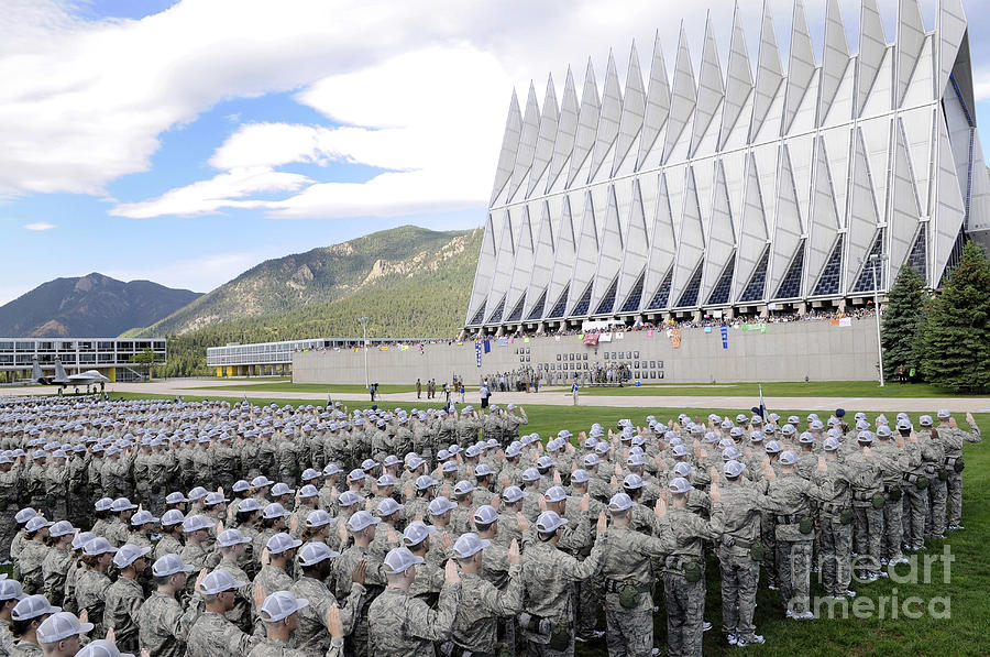 Colorado Photograph - Cadets Recite The Oath Of Allegiance by Stocktrek Images