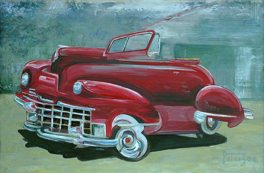 Automobile Painting - Cadillac 47 by Gary Peterson
