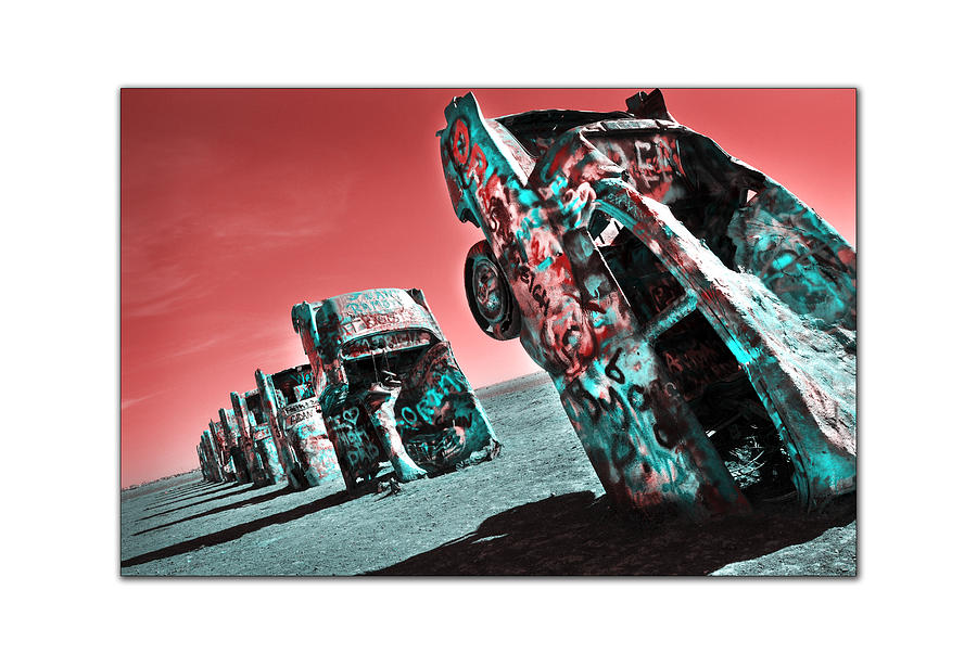 Digital Photography Photograph - Cadillac Ranch-2010 by Anthony Manfredo