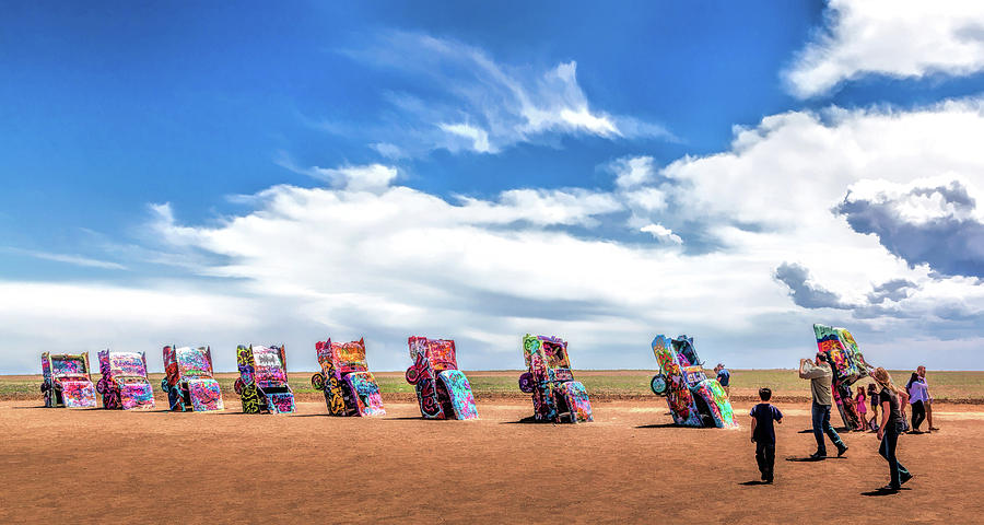 Route 66 Cadillac Ranch Painting By Christopher Arndt