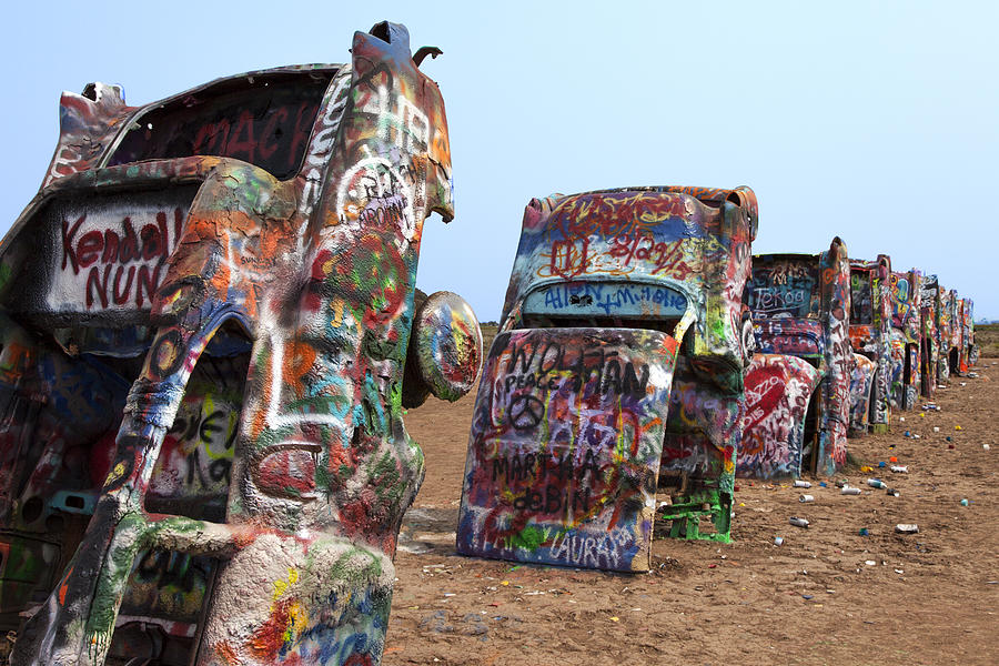 Route 66 Photograph - Cadillac Ranch by Rick Pisio