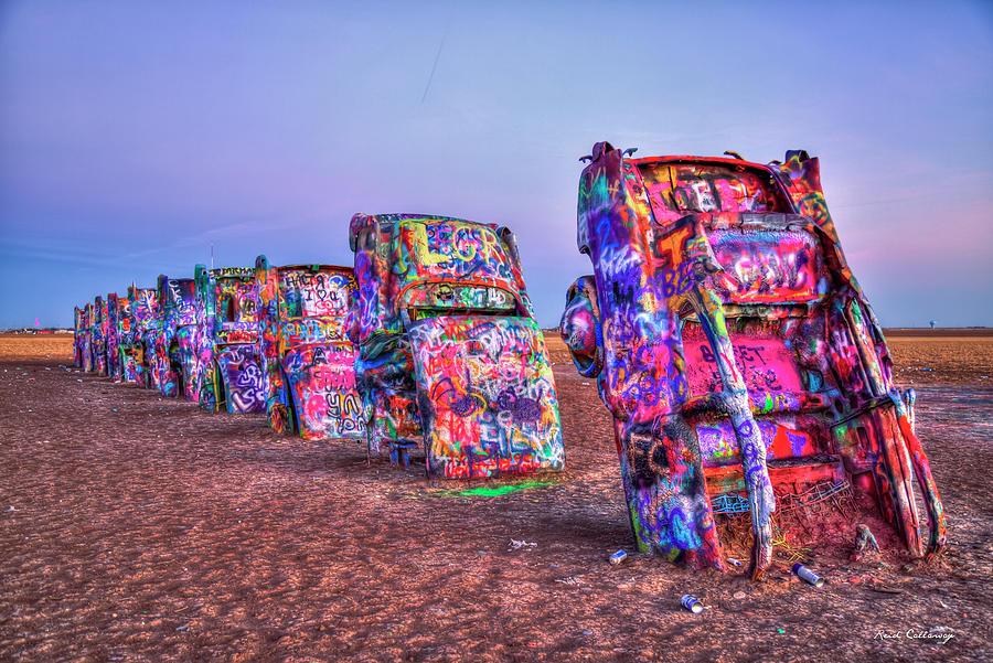 Cadillac Ranch U S Route 66 Amarillo Texas Art Photograph By Reid