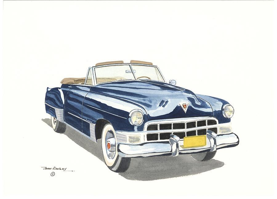 Cadillac Painting - Cadillac Series 62 1949 by John Kinsley