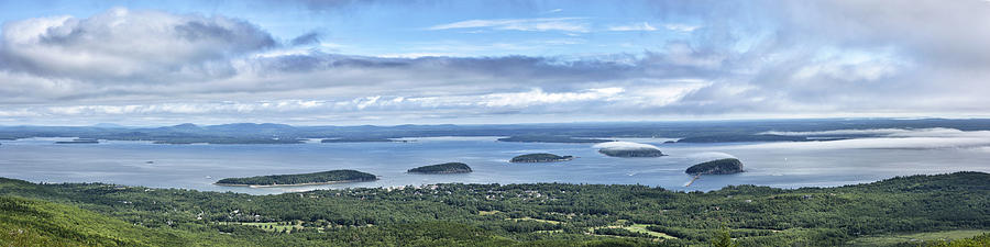 Cadillac Summit Panorama Acadia National Park Maine Photograph By Brendan Reals
