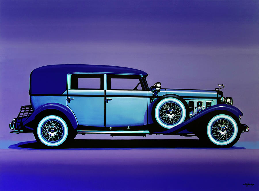 Cadillac V-16 Painting - Cadillac V16 1930 Painting by Paul Meijering