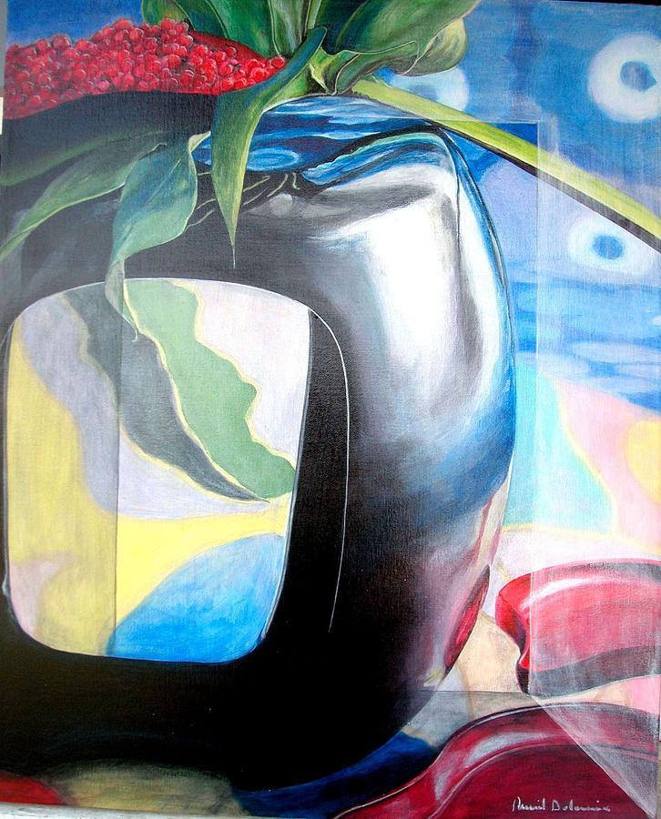 Nature-morte Painting - Cadre by Muriel Dolemieux