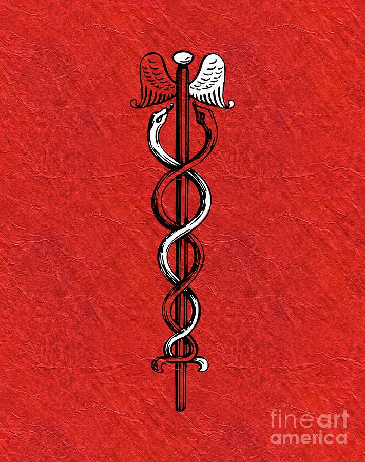 Caduceus Painting - Caduceus - Symbols Of The Occult by Pierre Blanchard