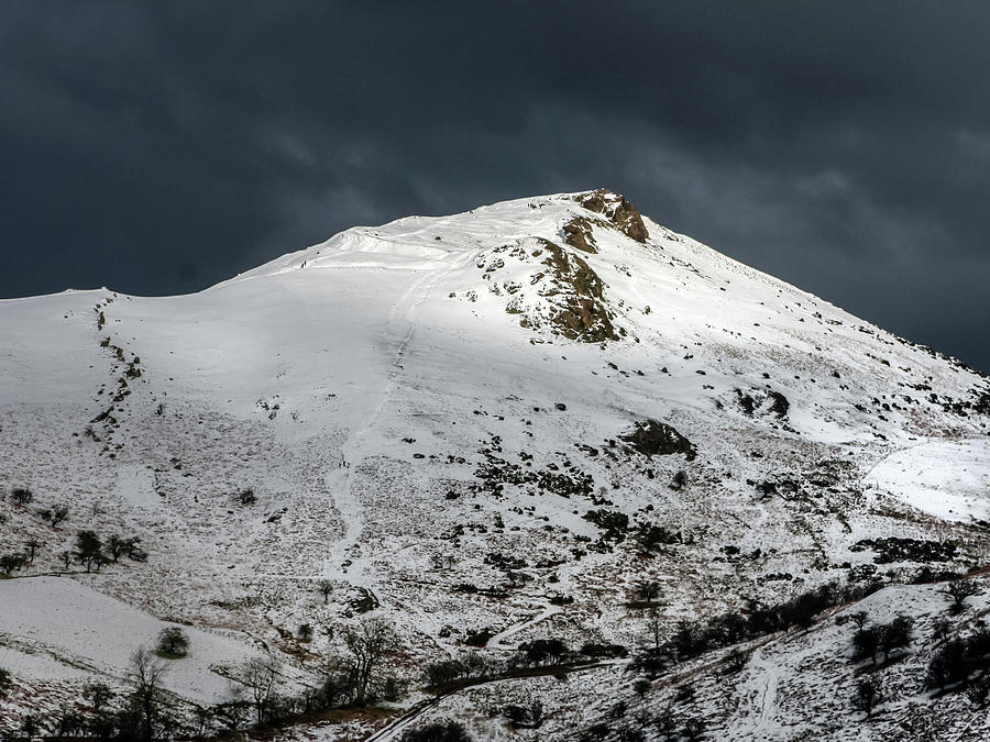 Church Stretton Photograph - Caer Caradoc Winter by Richard Greswell