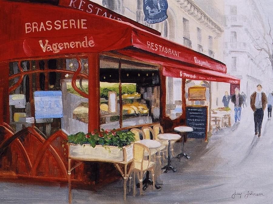 Cafe Painting - Cafe 4 by Jay Johnson