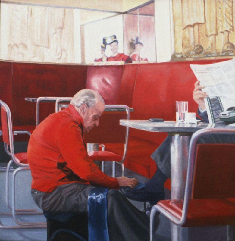 Cafe Alentejo Portalegre Painting by Leone Holzhaus