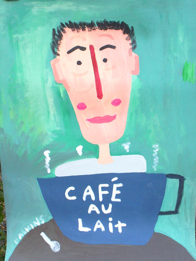 Cafe Au Lait Painting by Terry Gaskins