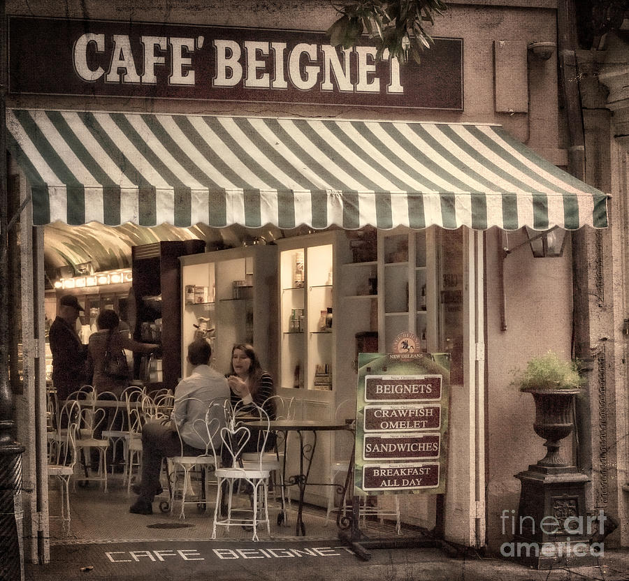 Beignet Photograph - Cafe Beignet 2 by Jerry Fornarotto