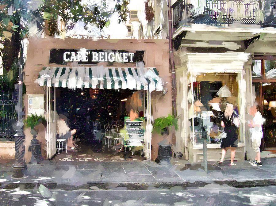Cafe Photograph - Cafe Beignet Summer Day by Scott Crump