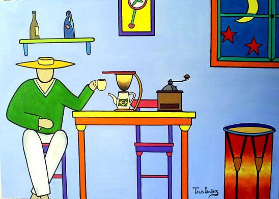 Cafe Brasil Painting by THAIS IBANEZ  Tropical Art