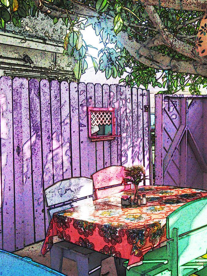 Cafe Photograph - Cafe Corner by Deborah Hildinger