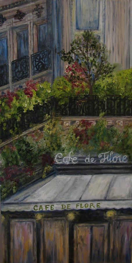 Cafe Painting - Cafe De Flore by Shiana Canatella