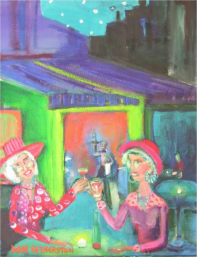 Figurative Painting - Cafe by Dominic Fetherston