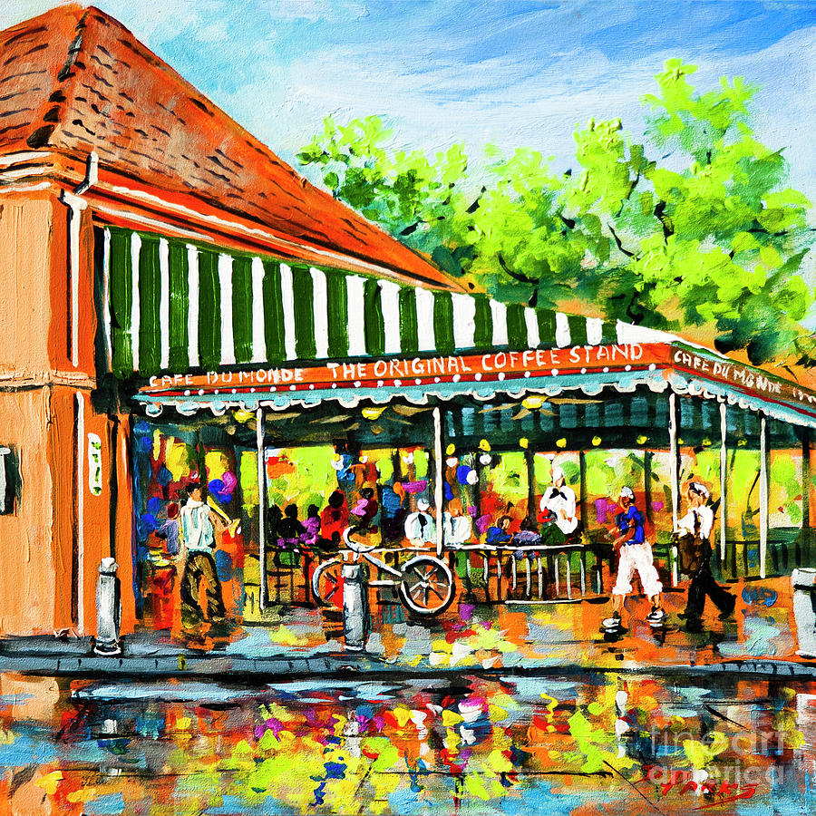 Cafe du Monde Lights by Dianne Parks