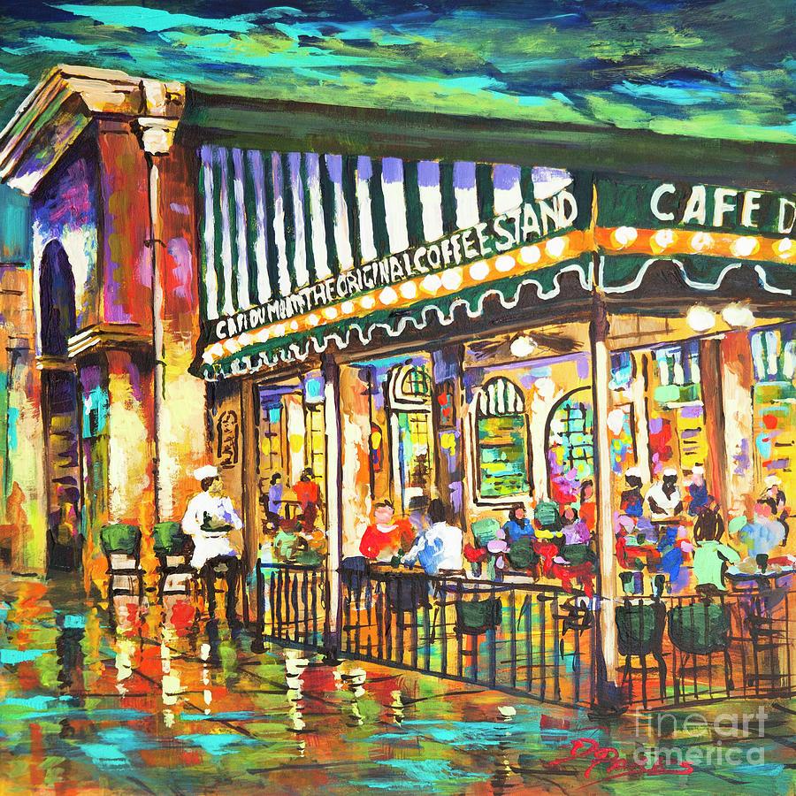 Cafe du monde night painting by dianne parks for Restaurant cuisine du monde paris