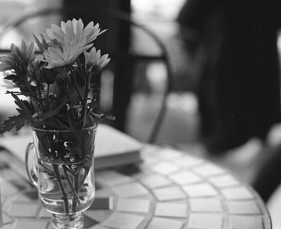 Flowers Photograph - Cafe by Emma Switzer