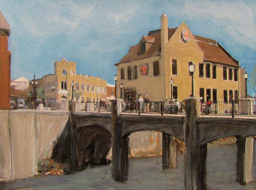 Milwaukee Mixed Media - Cafe Hollander 1 by Anita Burgermeister