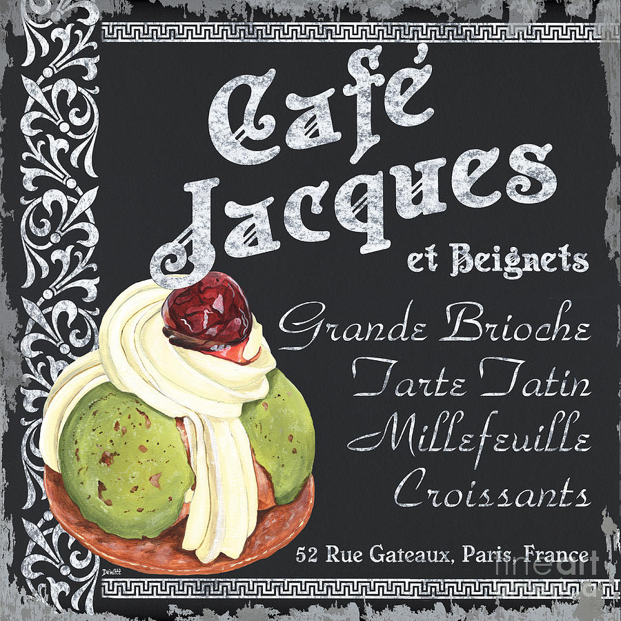 Cafe Painting - Cafe Jacques by Debbie DeWitt