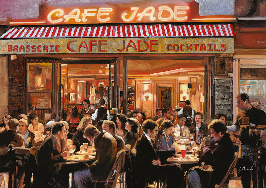 Cafe Jade Painting By Guido Borelli