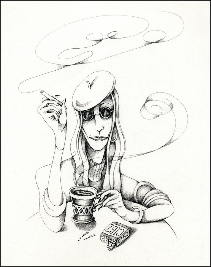 Cafe Lady by Valerie White