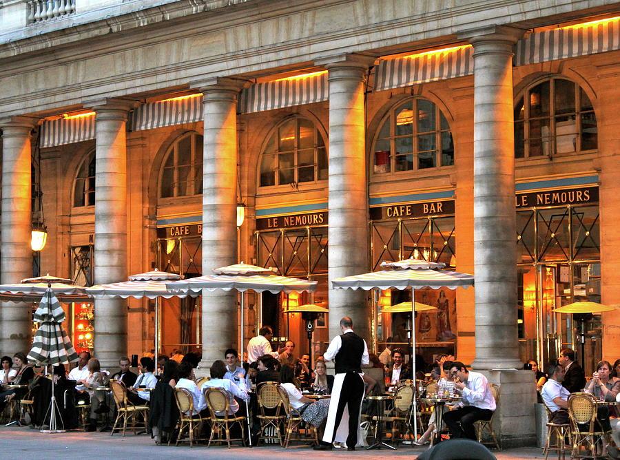Paris Cafe Photograph - Cafe Le Nemours by Lauren Serene