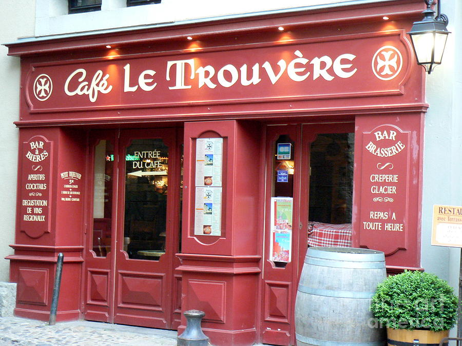 Cafe le Trouvere by FRANCE ART