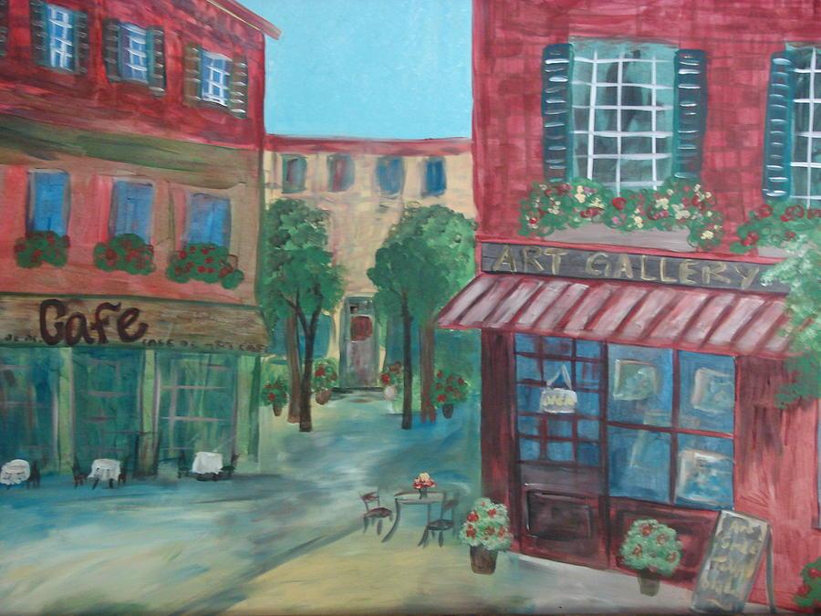Cafe Painting - Cafe Life by Shiana Canatella