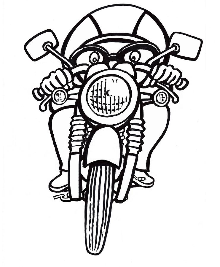 Cafe Racer 2 Drawing By Scott Nelson