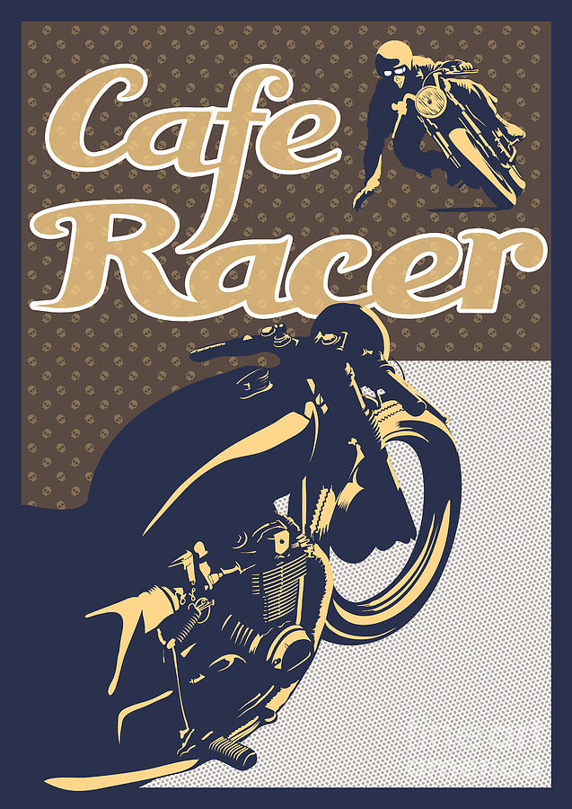 Cafe Racer Painting - Cafe Racer by Sassan Filsoof