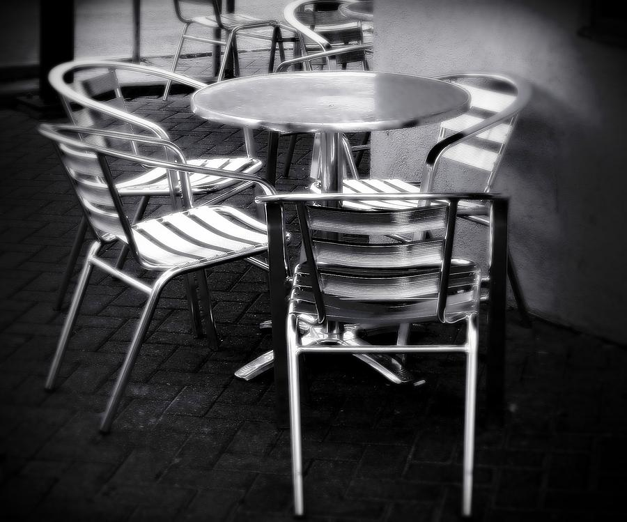 Cafe Photograph - Cafe Seating by Perry Webster