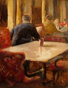 Cafe Sperl Painting by Andrew Judd
