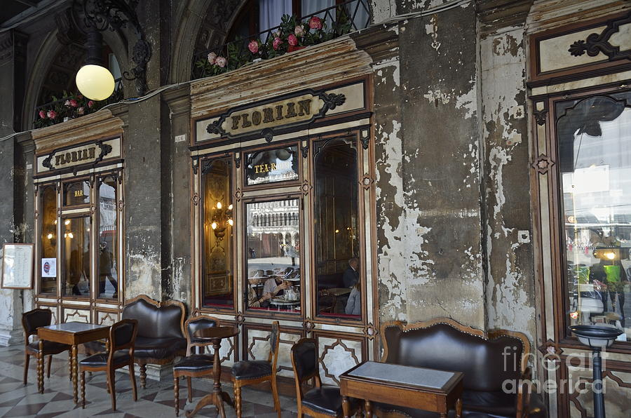 Food And Drink Photograph - Cafe Terrace On Piazza San Marco by Sami Sarkis