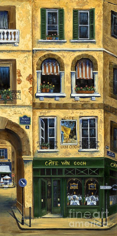 Europe Painting - Cafe Van Gogh Paris by Marilyn Dunlap