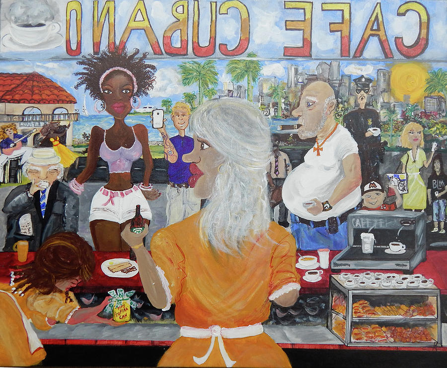 Miami Painting - Cafeteria by Jorge Delara