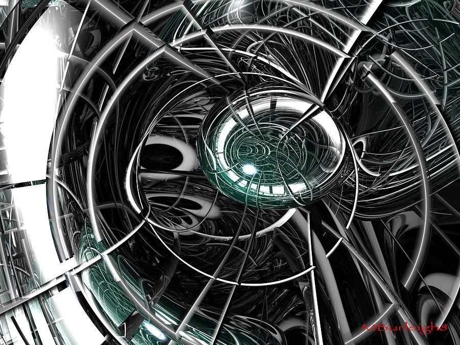 Bryce Digital Art - Caged by Michael Burleigh