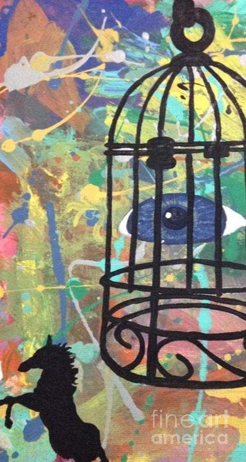 Abstract Painting - Caged Vision  by Chris Dippel