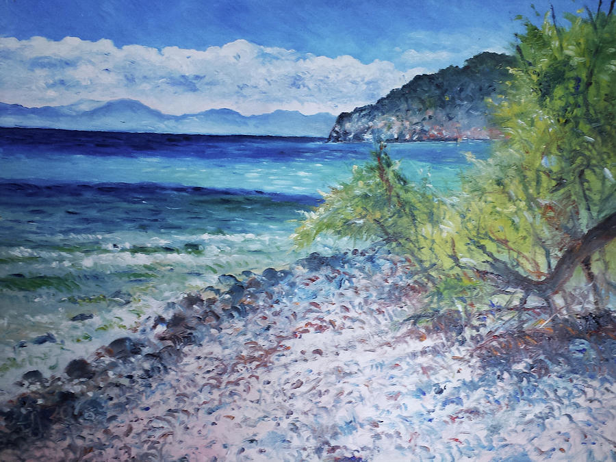 Impressionism Painting - Cagliari Sardinia Italy 2016 by Enver Larney
